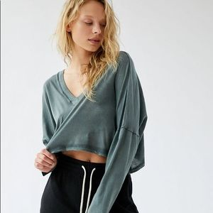 URBAN OUTFITTERS out from under cropped shirt